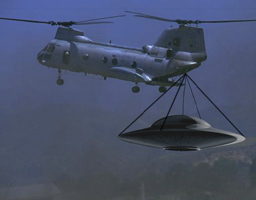 copter carrying ufo